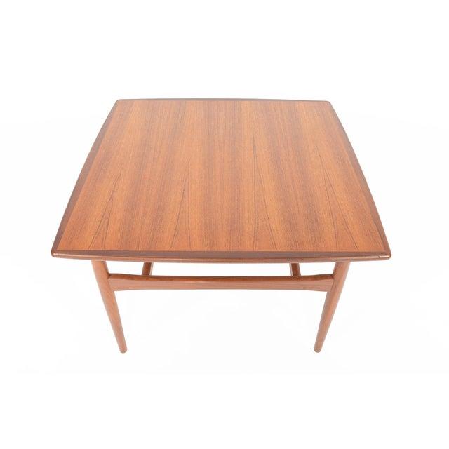 Mid-Century Danish Modern Square Teak Coffee Table - Image 5 of 8