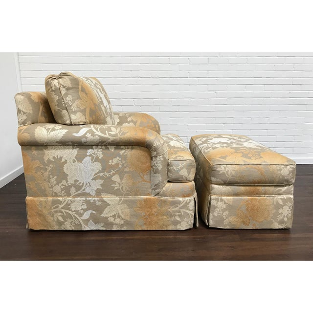 RJones RJones Adolfo Lounge Chair & Matching Ottoman - A Pair For Sale - Image 4 of 10