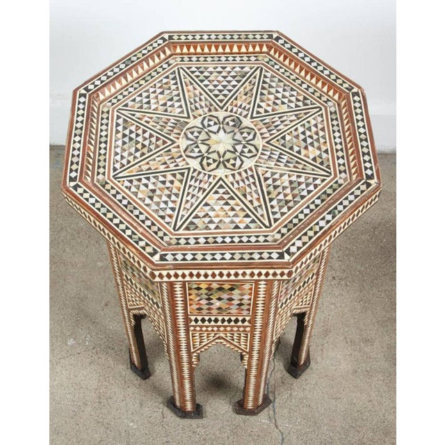 Mid 20th Century Syrian Octagonal Table Inlay with Mother-Of-Pearl For Sale - Image 5 of 7