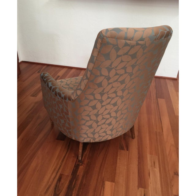 Mid-Century Modern Mid-Century Modern Silk Leaf Upholstered Chair For Sale - Image 3 of 12