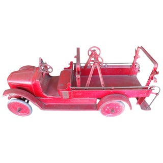 1920s Pressed Steel Fire Truck by Buddy L For Sale