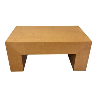 Large Light Wood Rectangular Coffee Table For Sale