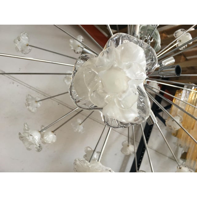 Murano Modern Murano Glass Triedo Sputnik Flower Chandelier For Sale - Image 4 of 7