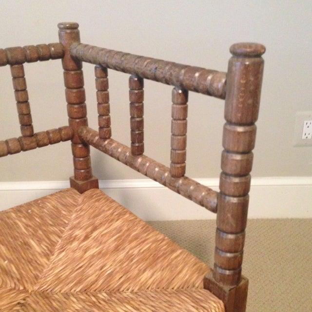 Corner Cane Spool Chair - Image 5 of 7
