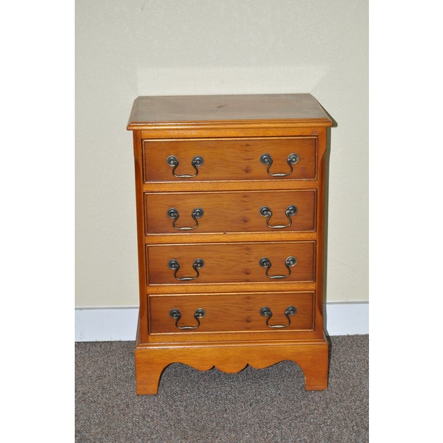 Vintage Yew Wood Miniature Chest of Drawers - Image 2 of 5