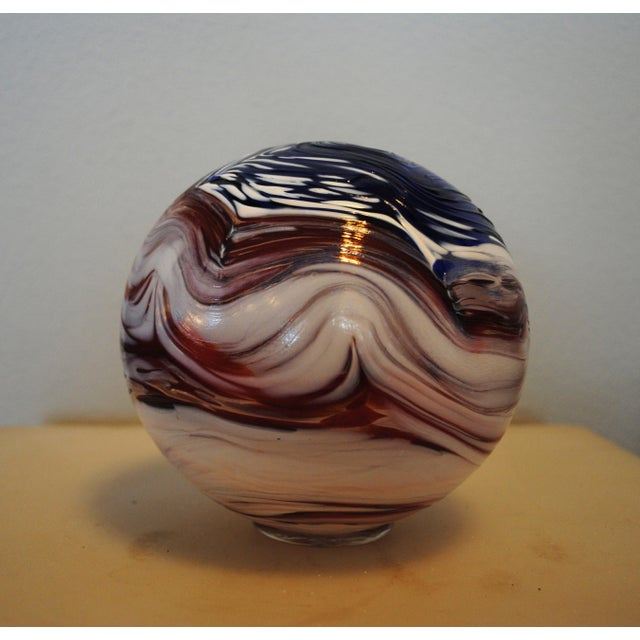 2000 - 2009 Hand Blown Nautical Glass Float For Sale - Image 5 of 5