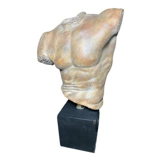 1990s Male Torso Bust Sculpture by Alva Sergey Eylanbekov For Sale
