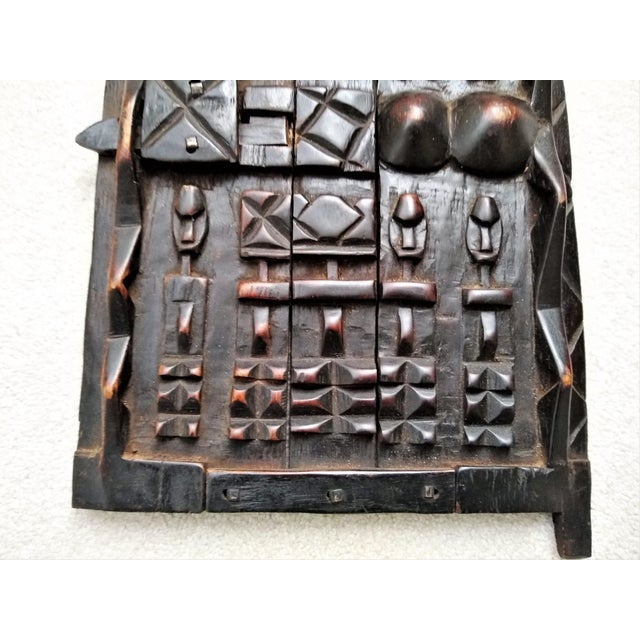 Early 20th Century Early 20th Century African Carved Granary Door From Africa - Mali For Sale - Image 5 of 11