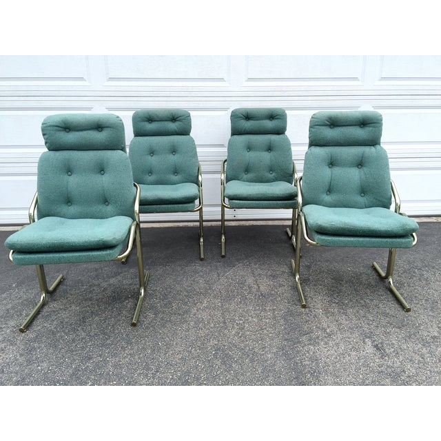 Blue Jerry Johnson Style Dining Chairs - Set of 4 - Image 7 of 8