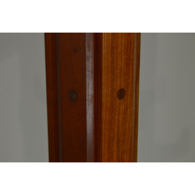1970s Studio Crafted Solid Cherry Clothes Tree For Sale - Image 5 of 13