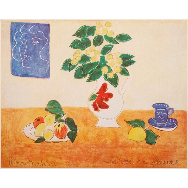 """A lovely original period tipped-in offset lithograph after still life """"Lierre en Fleurs"""" (Floweting Ivy) by French artist..."""