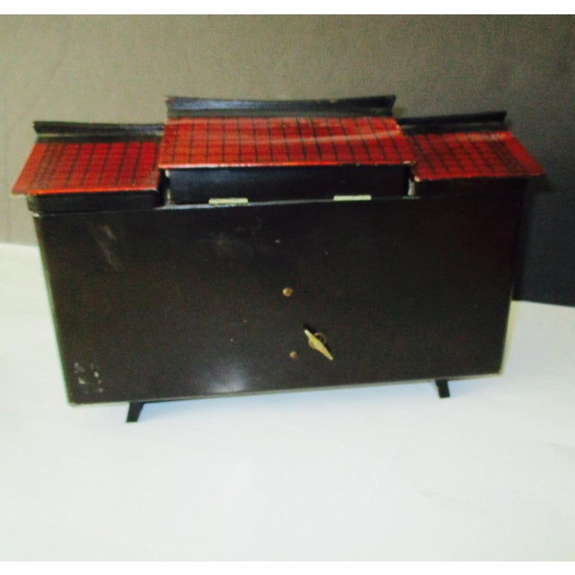 Asian Black Lacquer Jewelry Music Box - Image 3 of 11