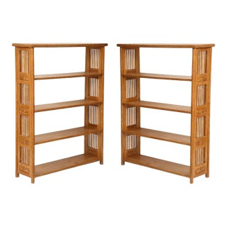 Cerused Oak Bookcases in the Vienna Secessionist Manner - a Pair For Sale