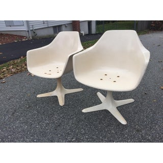 1970s Mid Century Modern Burke Inc. Tulip Arm Chairs - a Pair Preview