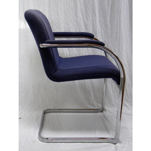 Mid-Century Modern Chrome Arm Chair For Sale - Image 4 of 6