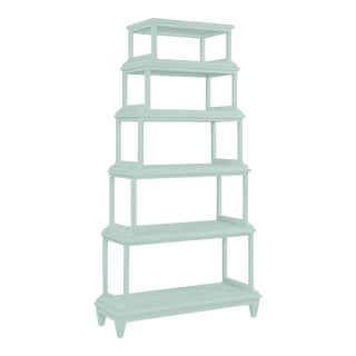 Jules Etagere, Palladian Blue For Sale