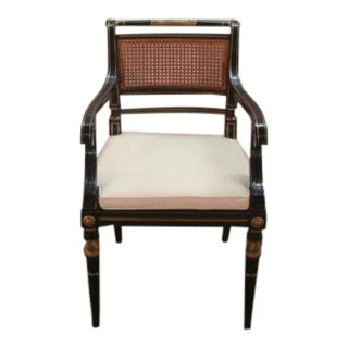 1980s Baker Paint Decorated Regency Style Chair For Sale