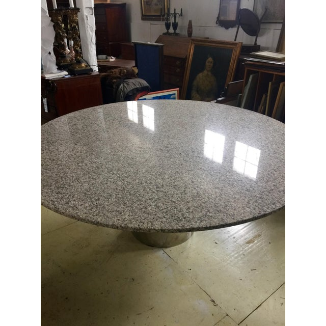 Marble & Chrome Dining Table For Sale In New York - Image 6 of 9