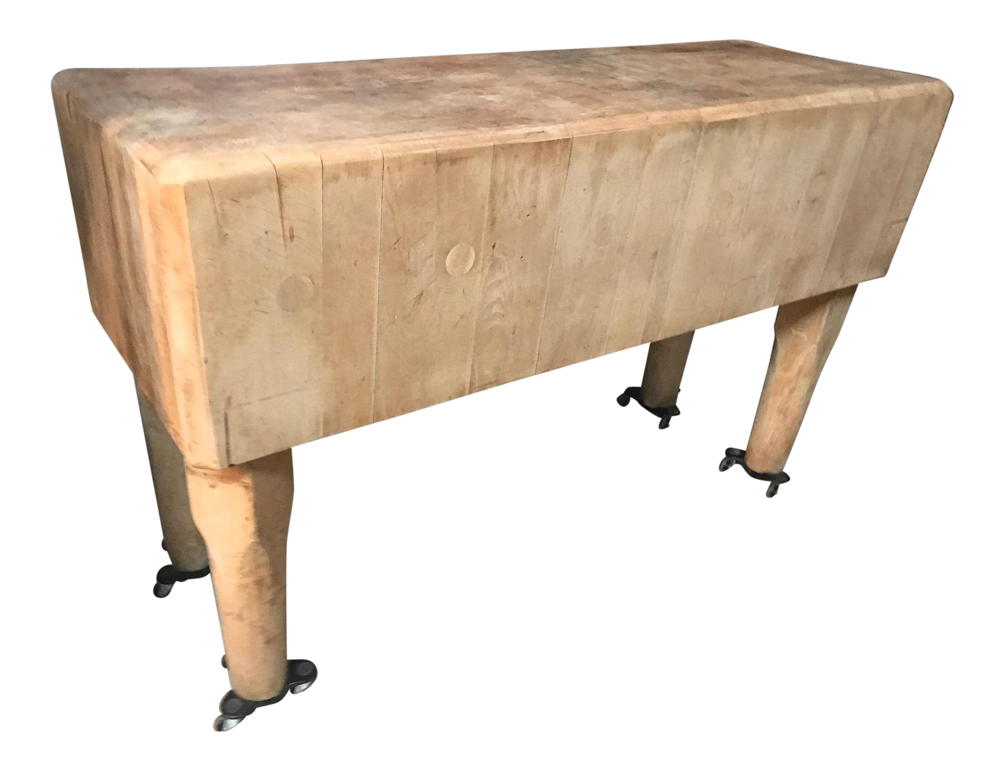 1930s Butcher Block Table For Sale