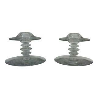 Art Deco Style Beehive Candleholders-A Pair For Sale