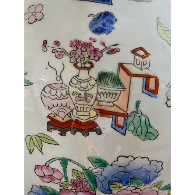 Pink 19th Century Chinese Famille Rose Vase With Pink Flowers For Sale - Image 8 of 10