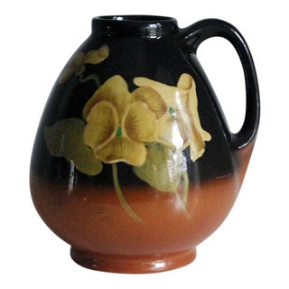 1920s Vintage Arts and Crafts Redwood Pottery Vase or Pitcher For Sale
