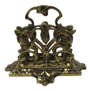 English Brass Letter Holder For Sale