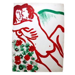 Keith Kirts Lovers Lithograph 1968 For Sale