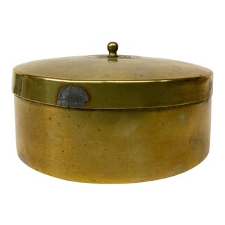 Antique Covered Brass Box