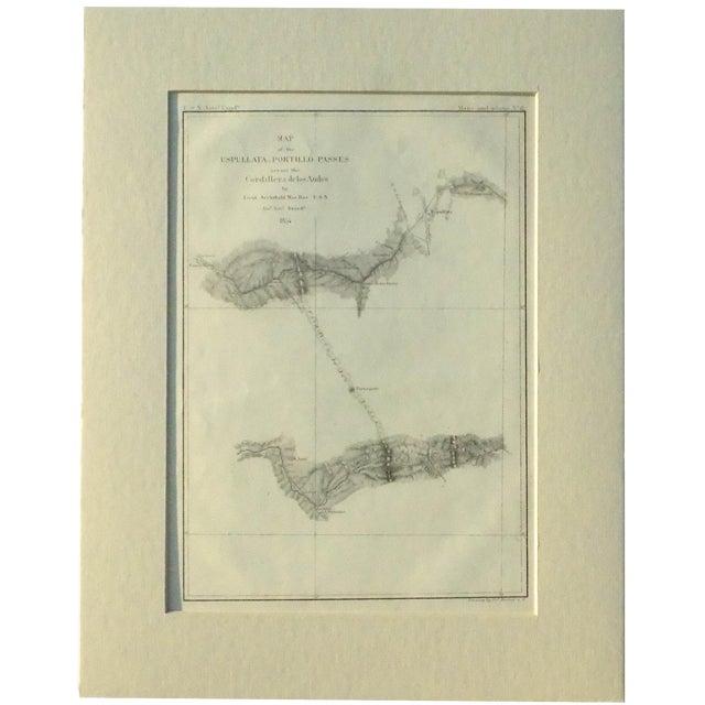 Santiago, Chili Uspullata & Portillo Passes, 1855 Map - Image 2 of 8