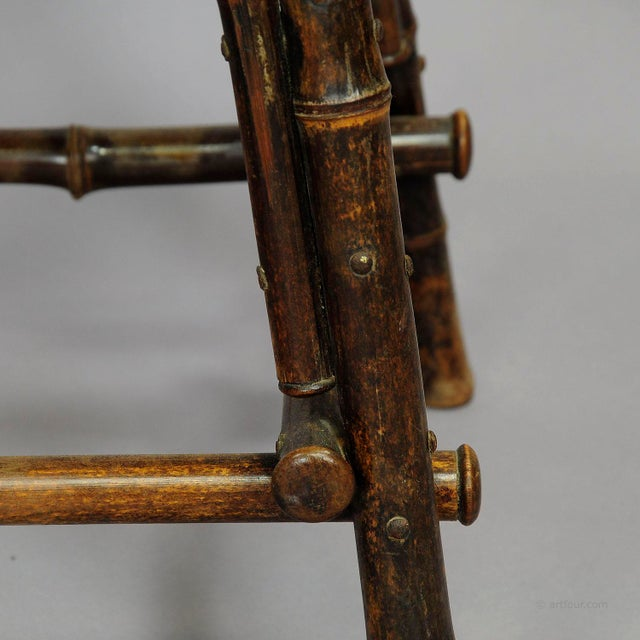 An Asian Inspired Set Of Bamboo Furniture Ca. 1930ties For Sale - Image 12 of 13