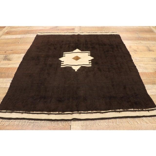 Vintage Turkish Angora Blanket Rug - 04'00 X 04'06 For Sale In Dallas - Image 6 of 9