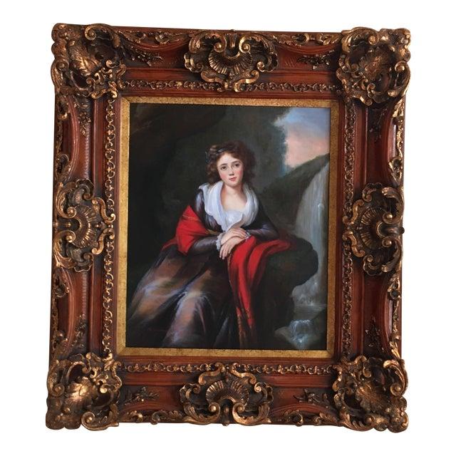 Vintage Oil Portrait of a Contessa For Sale