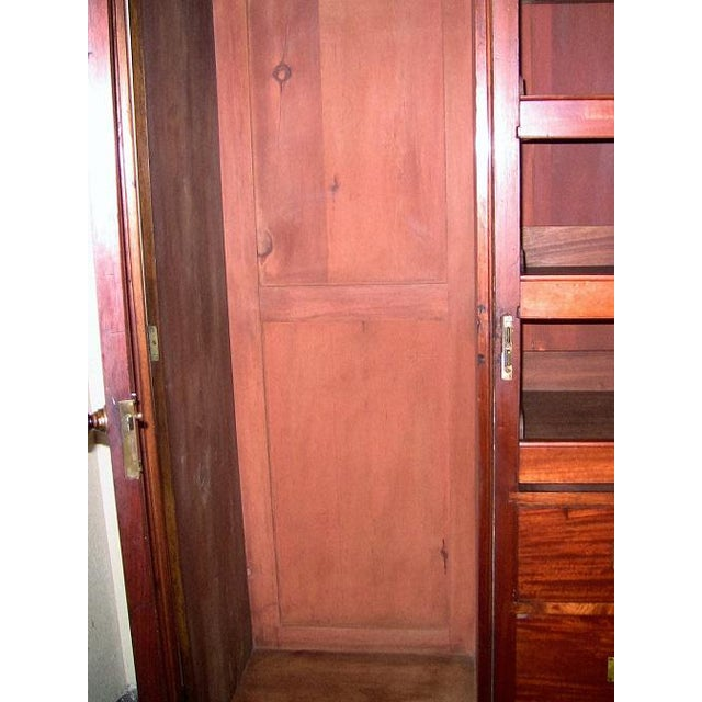 Late 19th Century 19c British Burl Walnut Breakfront 3 Door Wardrobe With Chest of Drawers For Sale - Image 5 of 13