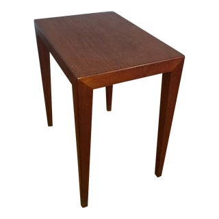 1960s Mid-Century Modern Rosewood Severin Hansen Haslev Illums Bolighus Side Table For Sale