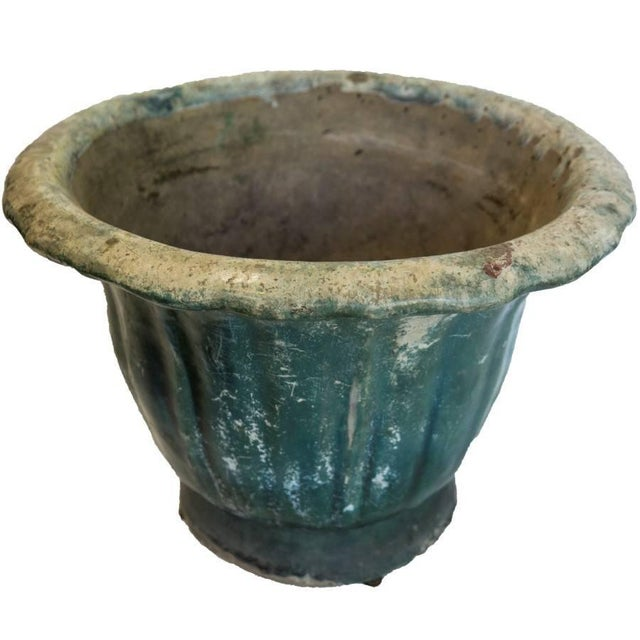 Ceramic Antique Ceramic Planter For Sale - Image 7 of 9