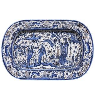 19th Century Blue & White Italian Faience Platter