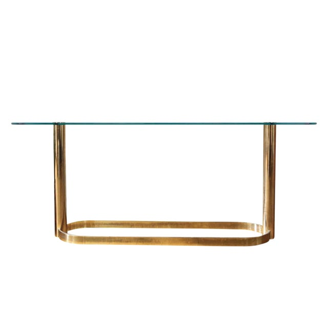 Mid-Century Pace Collection Glass Console Table - Image 1 of 8