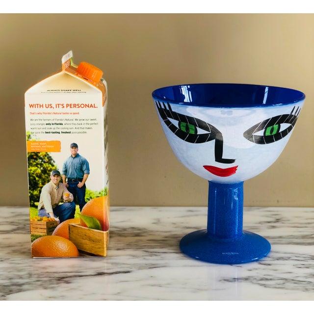 Ulrica Hydman-Vallien Kosta Boda Hand-Painted Face Vase For Sale In Detroit - Image 6 of 7
