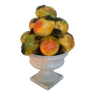 1980s Italian Porcelain Pear Topiary For Sale