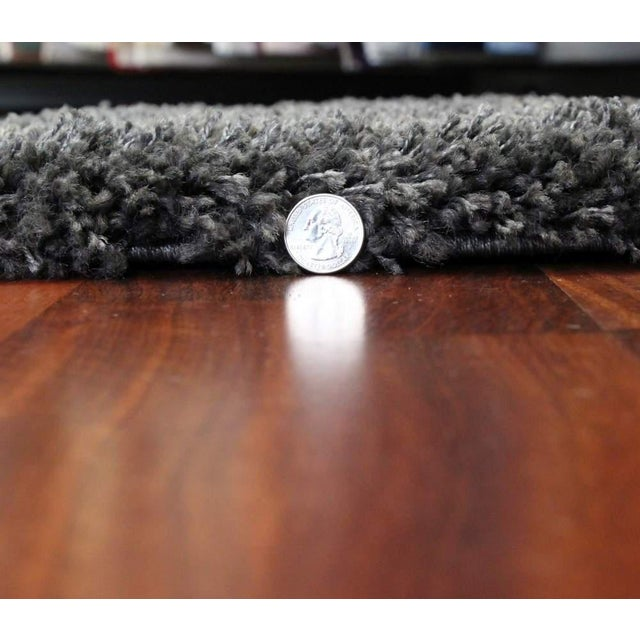 "Dark Gray and Charcoal Shag Rug - 5'4 ""x7'8'' - Image 4 of 6"