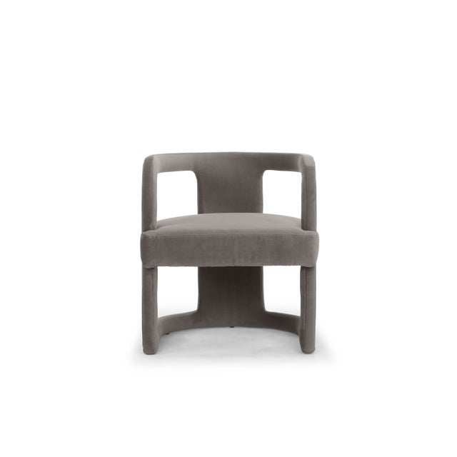 Skylar Accent Chair, Mouse Grey For Sale In Philadelphia - Image 6 of 6