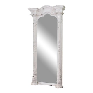 19th Century Carved Architectural Mirror For Sale