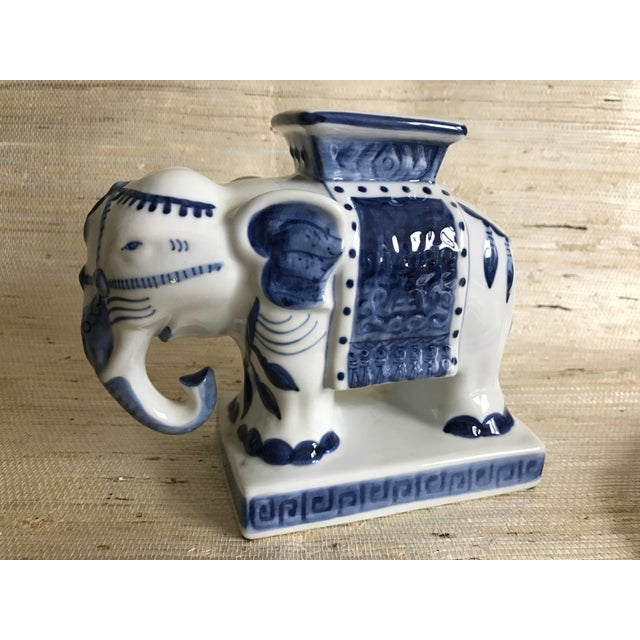Blue & White Ceramic Elephant Incense Burner - Image 2 of 5