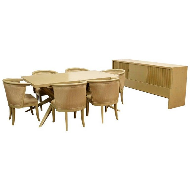Mid-Century Modern Harold Schwartz for Romweber Credenza Dining Table & Chairs - 8 Pc. Set For Sale - Image 10 of 10