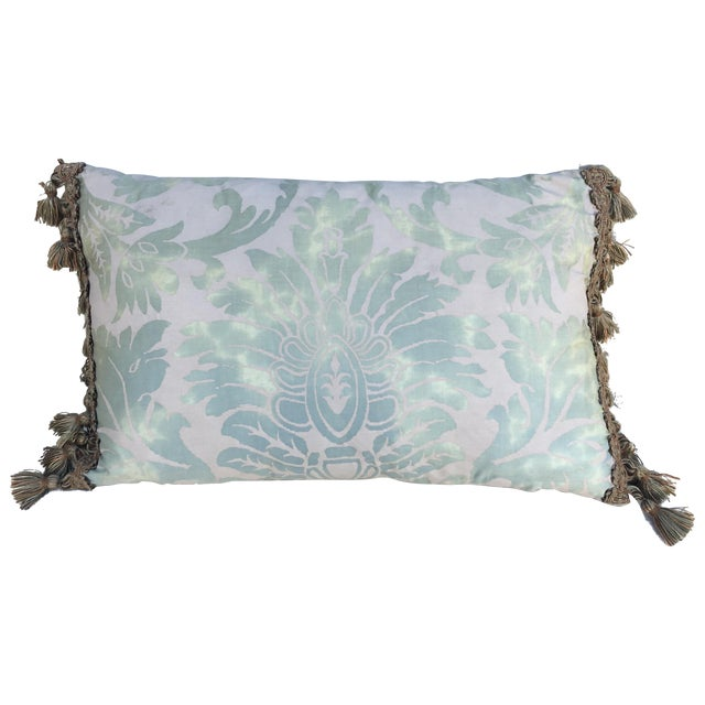 Sea Foam Green & Cream Fortuny Pillow - Image 1 of 5