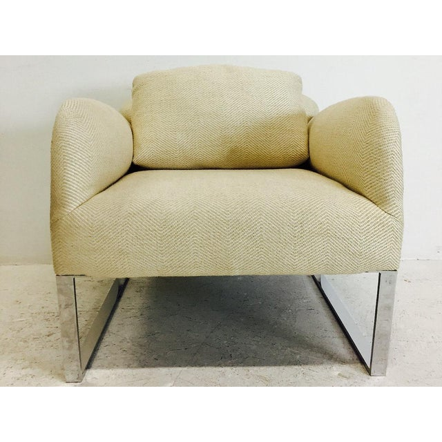 Donghia Pair of Donghia Focal Deco Style Lounge Chairs For Sale - Image 4 of 8