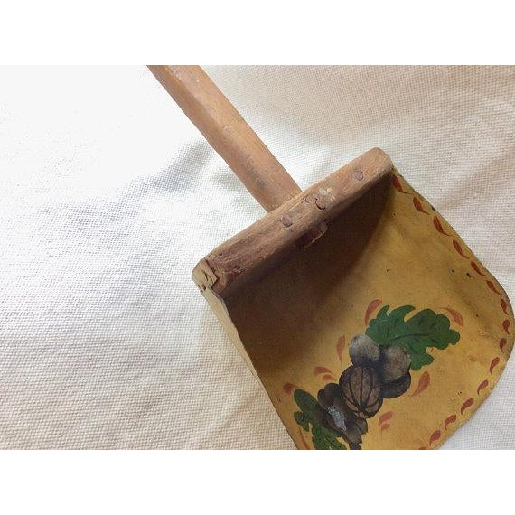Antique French Farmhouse Style Toleware Grain Scoop For Sale - Image 4 of 9