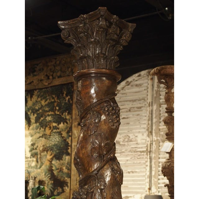 17th Century Carved Solomonic Columns From France - a Pair For Sale - Image 4 of 13