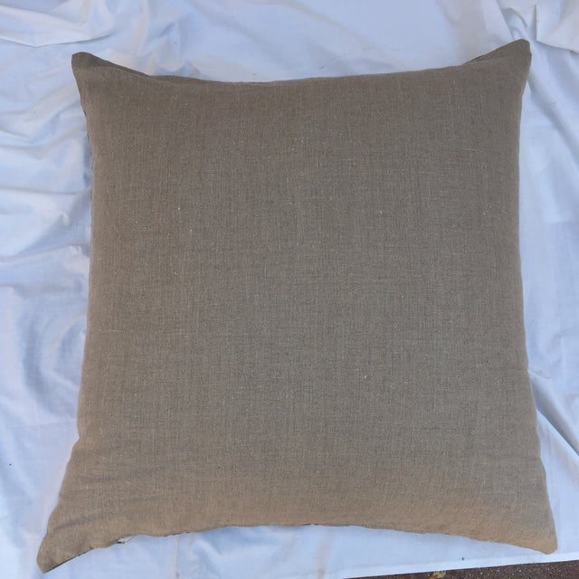 Vintage Dior Logo Scarf Pillow For Sale In Los Angeles - Image 6 of 8